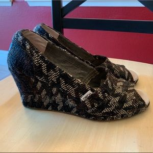TOMS Peep-toe Wedge shoes